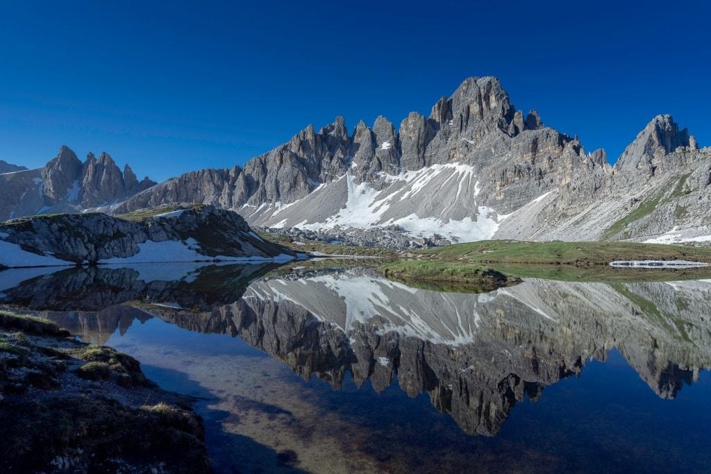 Am Paternkofel findet sich einer der spektakulärsten Klettersteige in den Dolomiten.