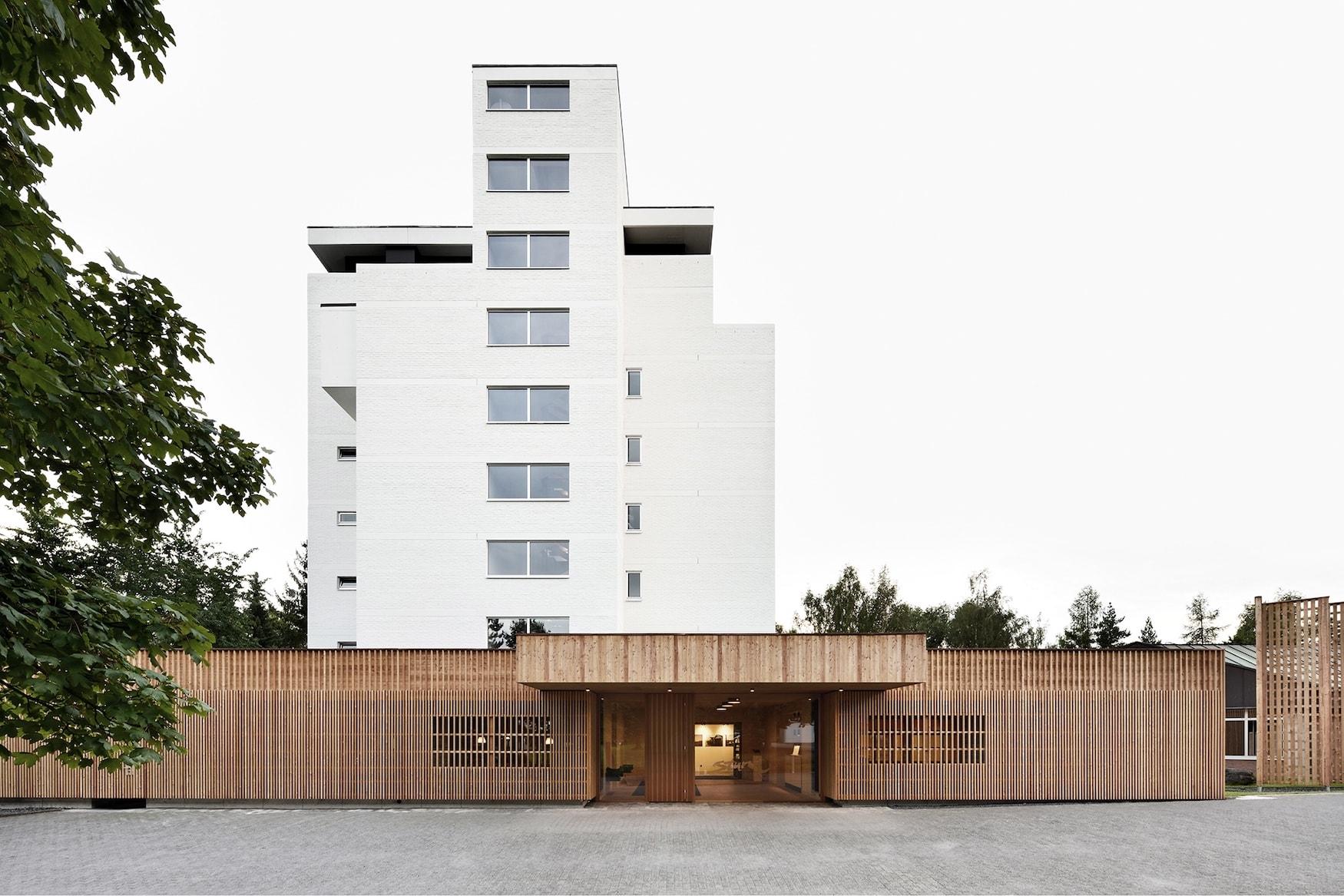 Außenfassade des Biohotels Sturm im Biosphärenreservat in der Rhön