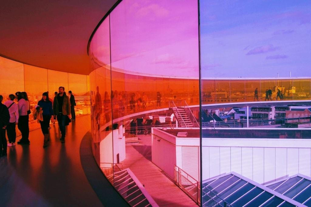Rainbow Skywalk in Aarhus