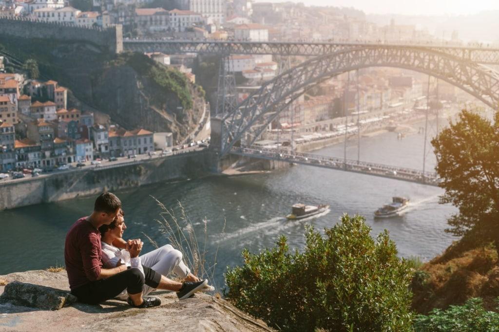 Schwulenpaar in Porto