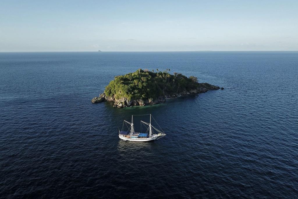 Segelschiff Philippinen Insel