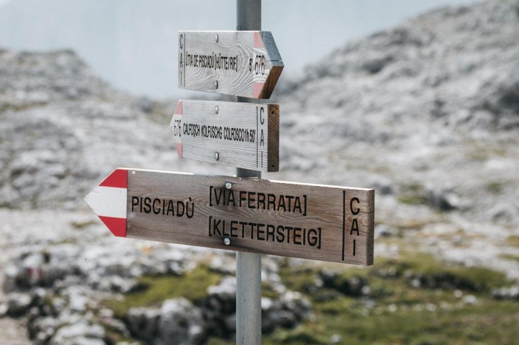 Der Pisciadu Klettersteig in den Dolomiten ist einer der schönsten Wege.
