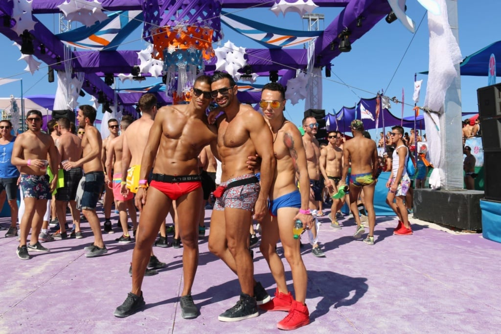 Schwule beim Winter Party Festival in Miami