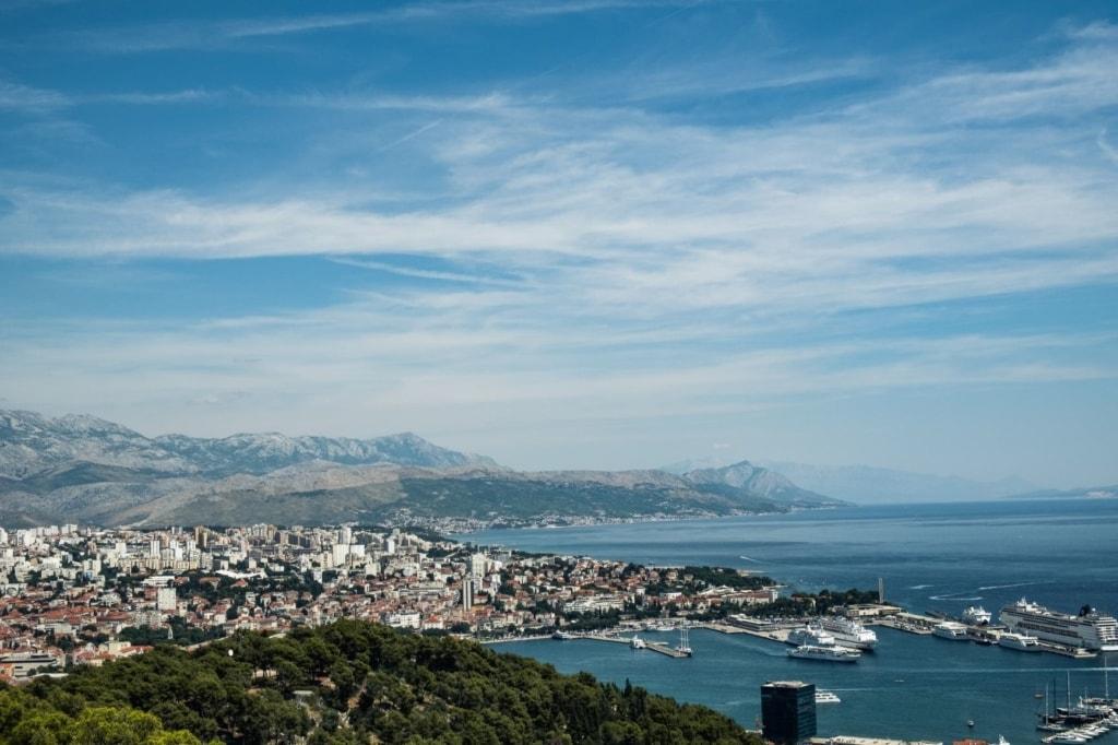 Luftaufnahme von Split, Kroatien