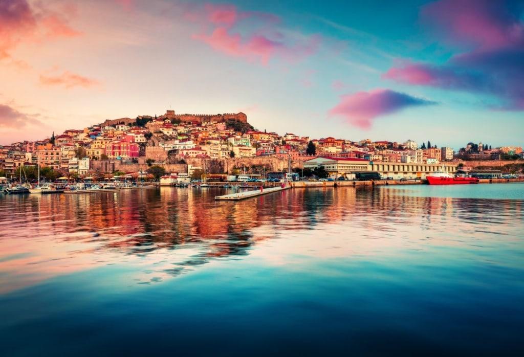 Stadt Kavala in Griechenland