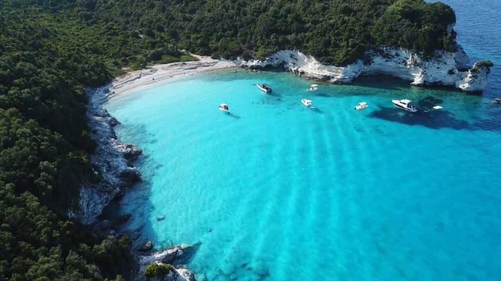Luftaufnahme Antipaxi-Insel in Griechenland
