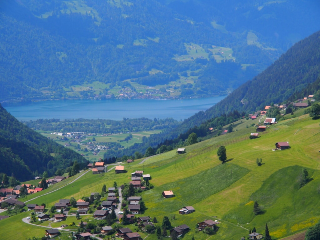Der Blick von Habkerm mach Interlaken am Thuners ist traumhaft.