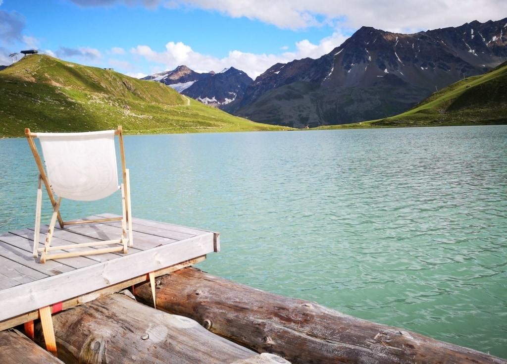 Liegestuhl am See