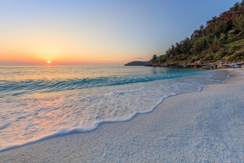 Marble beach auf der Insel Thassos