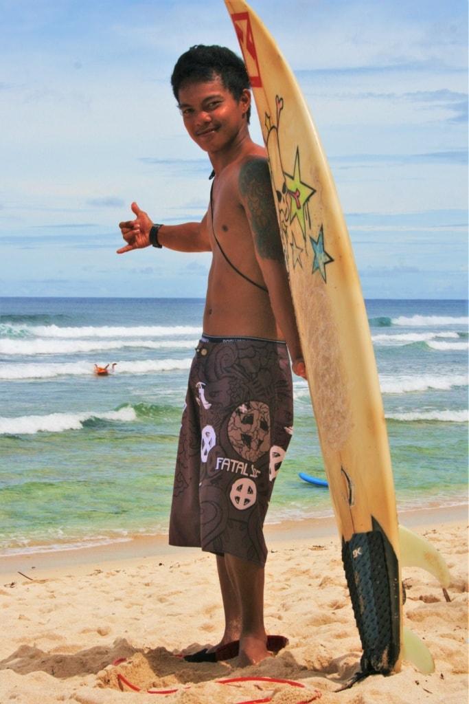 In Guiuan auf den Philippinen findet jeden September der nationale Surfwettbewerb der Philippinen statt.