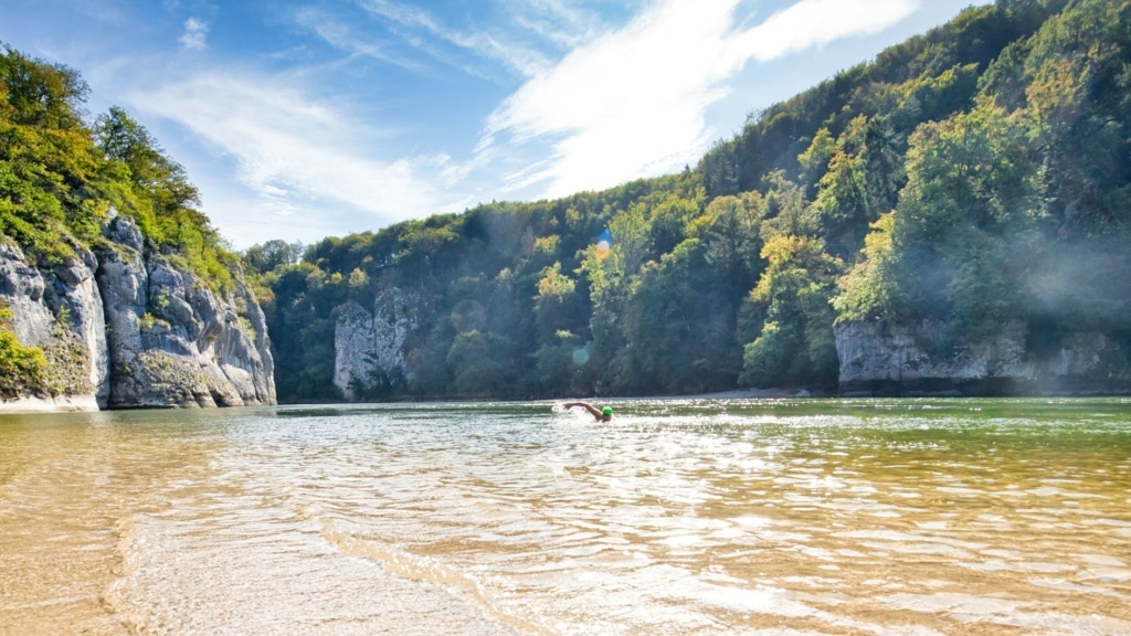 Sandinsel in der Donau