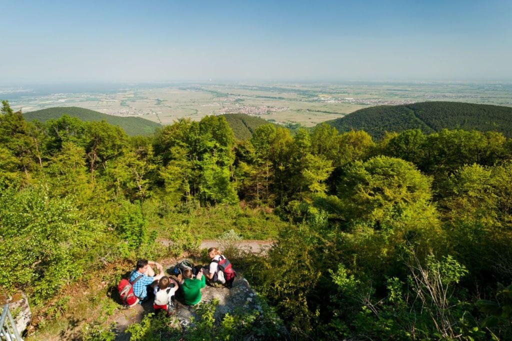 Familie auf dem Kalmit in der Pfalz