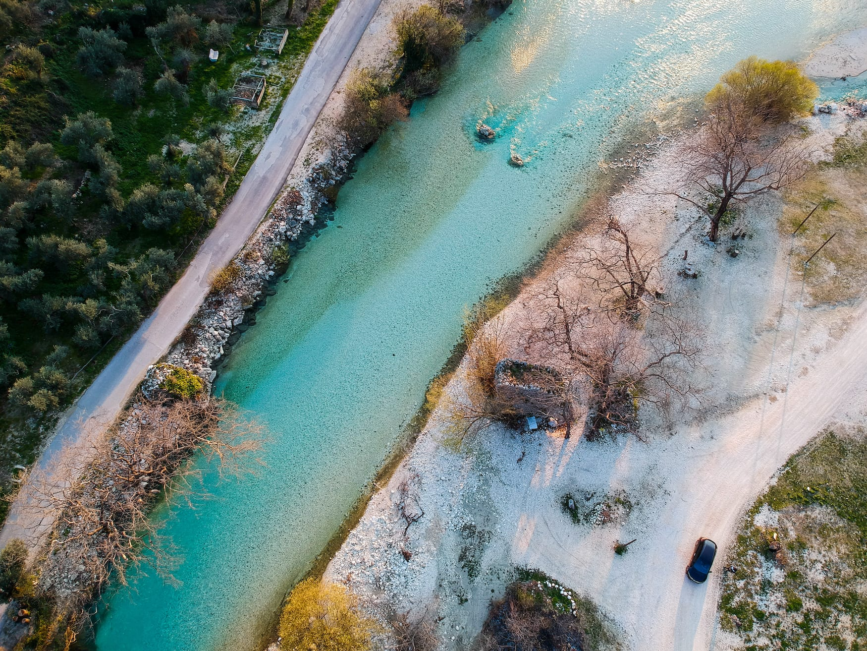 Der Acheron-Fluss entspringt in der griechischen Region Epirus