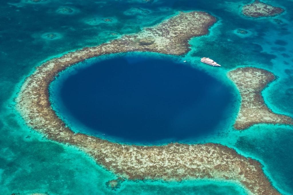 Große blaue Loch in Belize