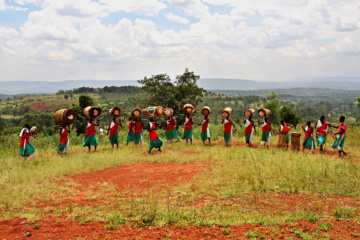 Trommler in Burundi