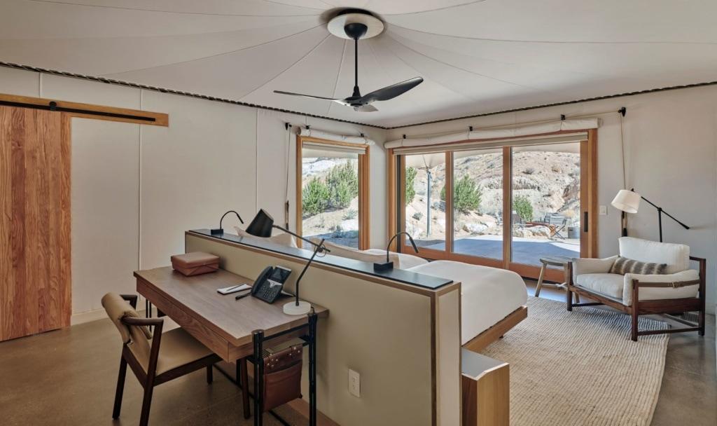 Schlafzimmer im Camp Sarika, Utah
