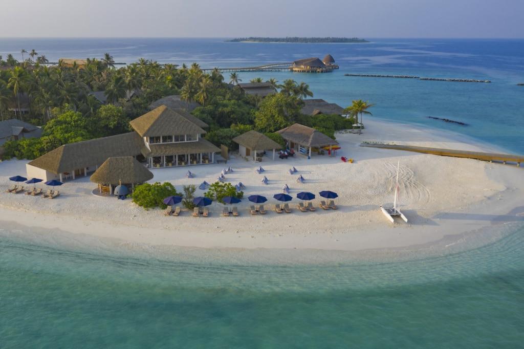 Trauminsel in Sicht: das Faarufushi Maledives.