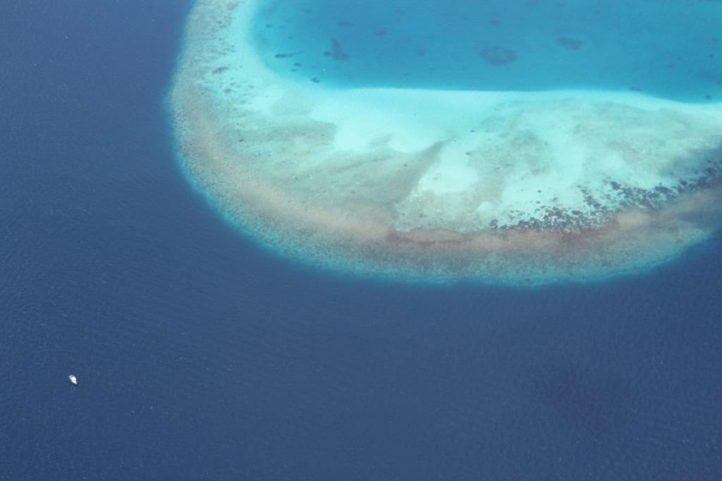 Die Malediven von oben sind ein ganz besonderes Erlebnis.