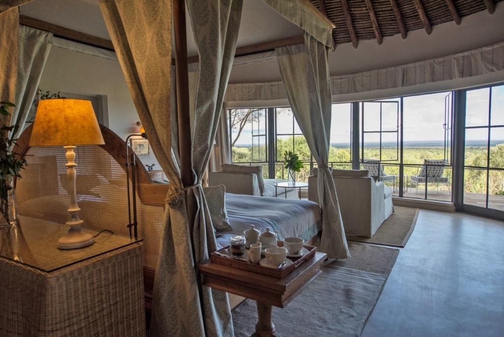 Blick in Luxuszelt im Mugie House, Kenia