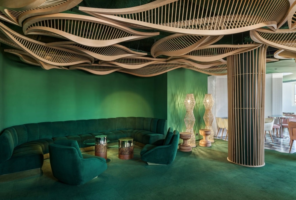 Lobby im Room Mate Macarena in Madrid