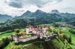 Schloss Gruyeres in der Schweiz