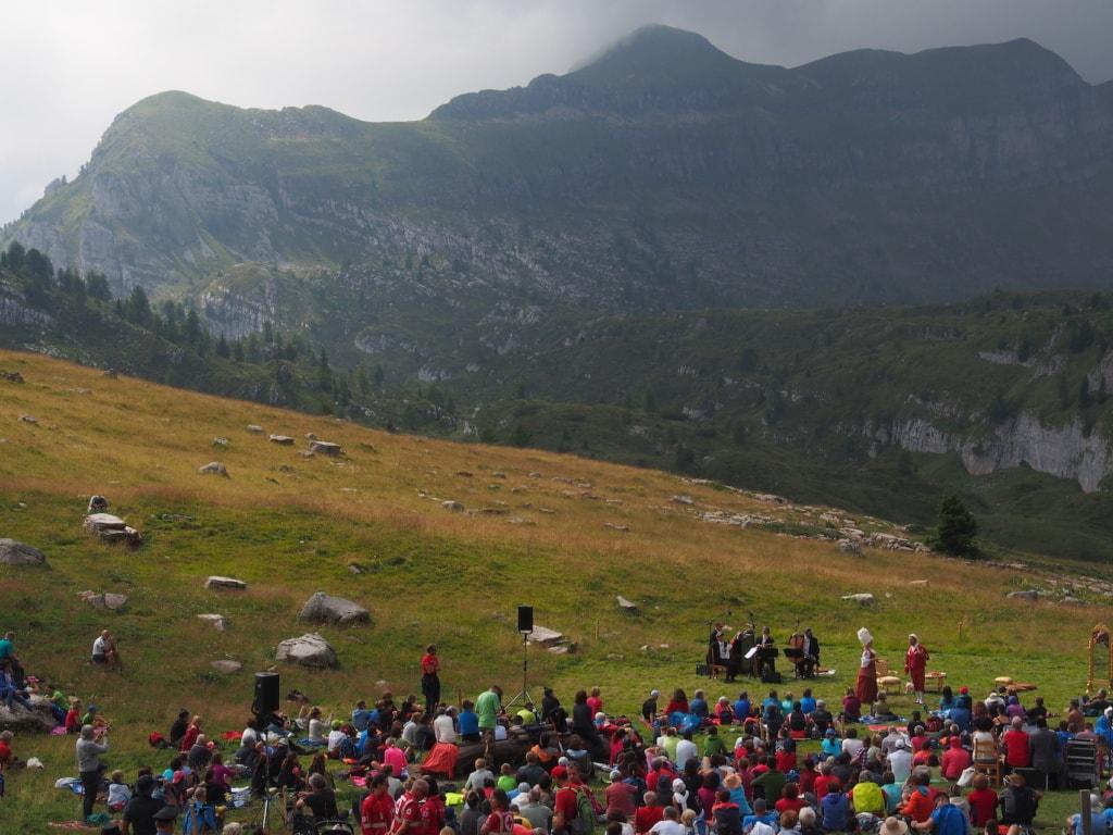 Beim Sounds of the Dolomites gab es eine Opernaufführung der besonderen Art.