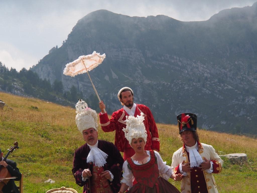 Die Opernaufführung bei den Sounds of the Dolomites war ein voller Erfolg.
