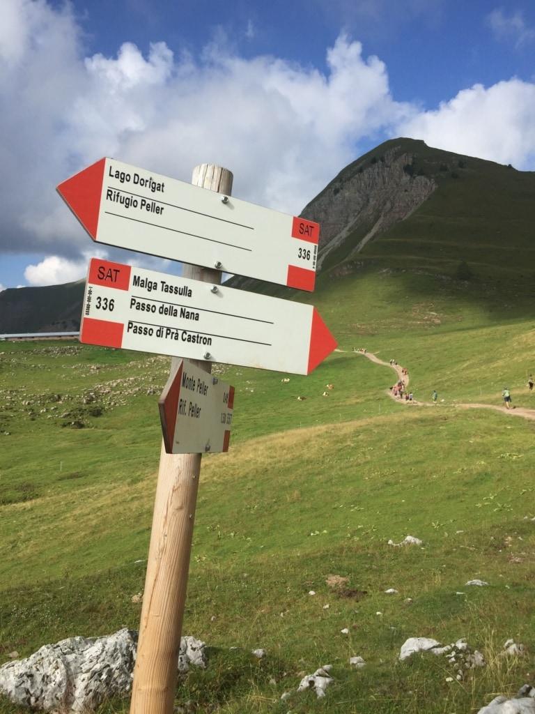 Die Brenta-Dolomiten bieten reichlich Gelegenheiten für ausgedehnte Wanderungen.