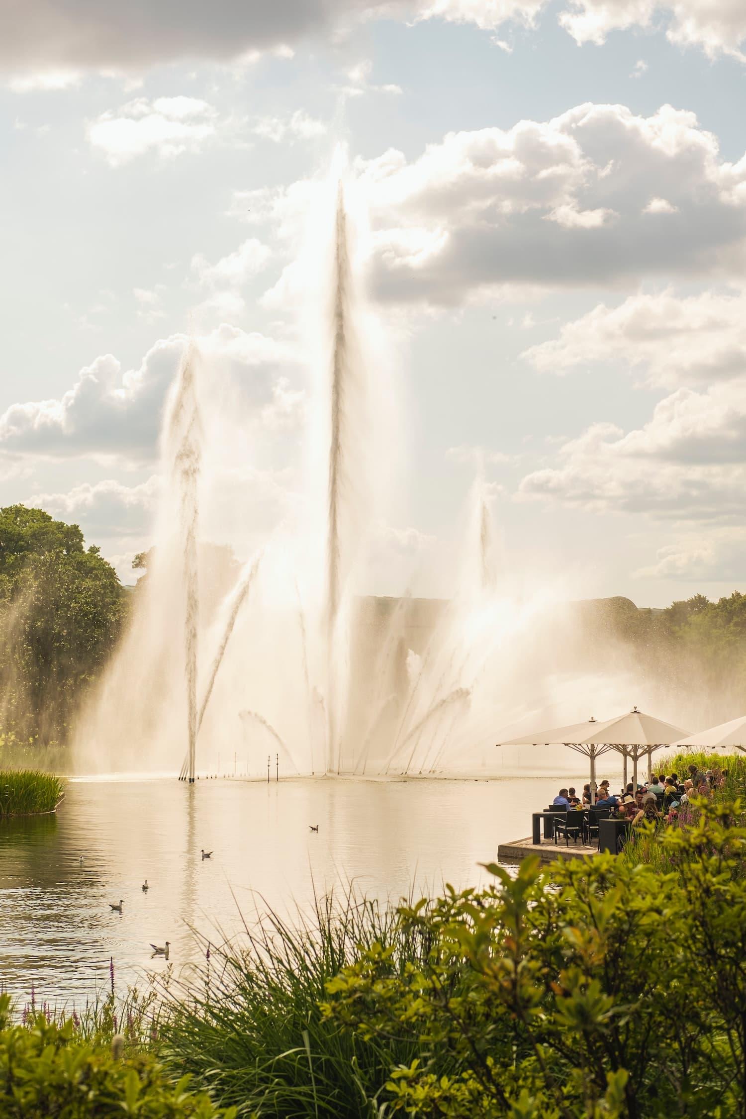 Im Stadtpark in Hamburg lässt sich entspannt der Abend ausklingen