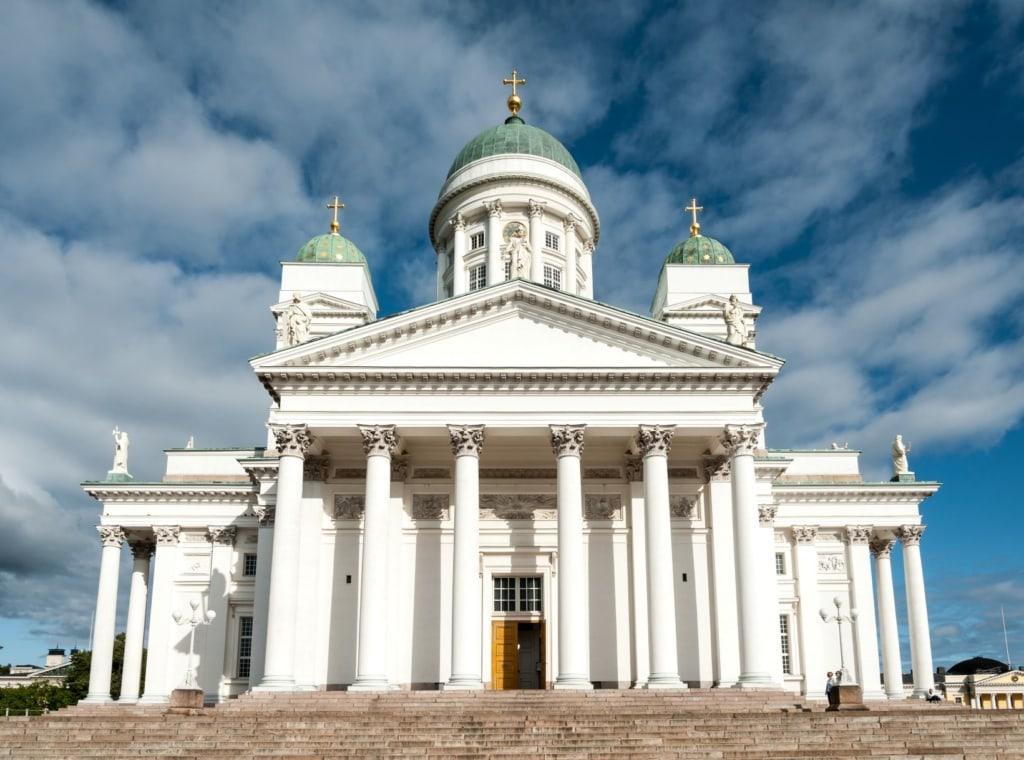 Blick auf den Dom in Helsinki