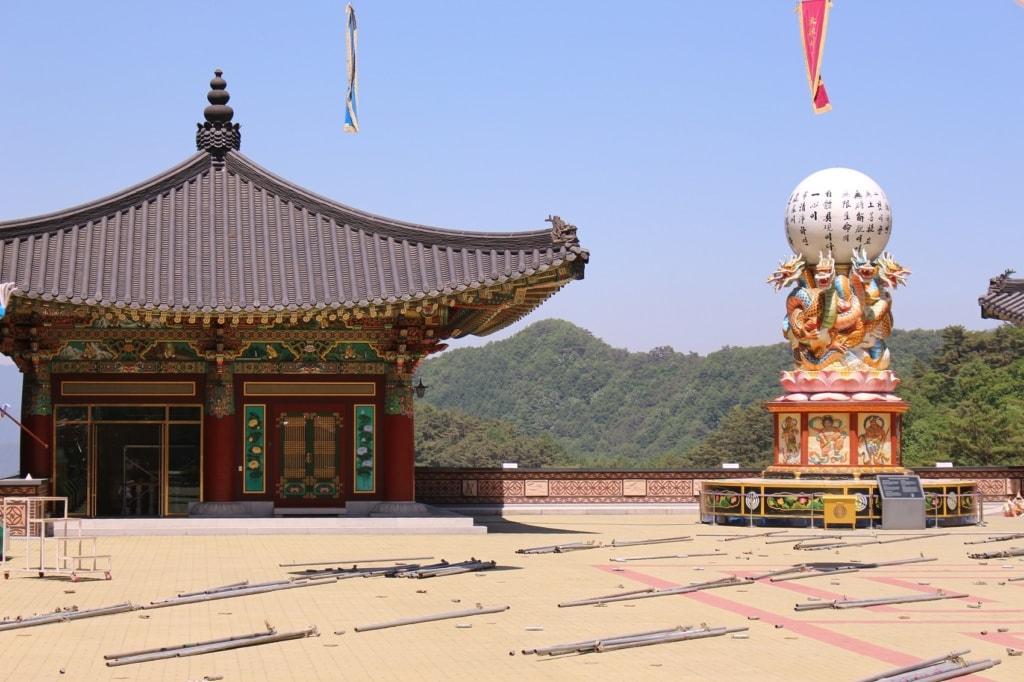 Dieser Gensa Tempel ist in der Nähe des Sobaeksan Nationalparks zu finden.