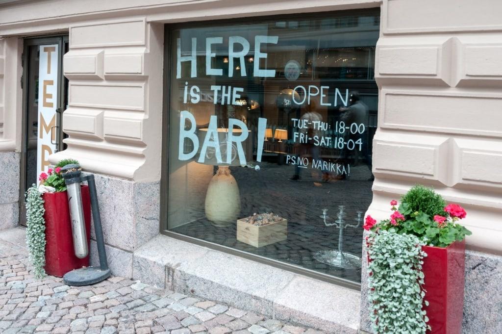 Shop von außen in Helsinki