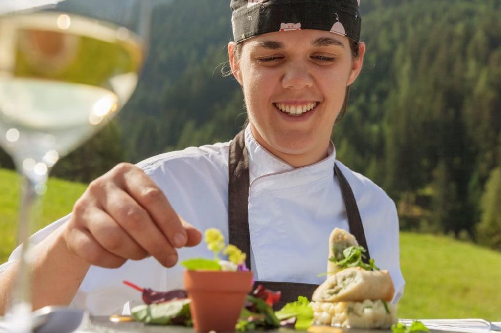 Monika Damian, Chefköchin im Cyprianerhof Domomit Resort