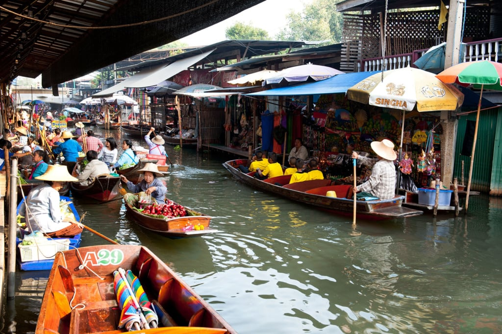 Der Schwimmende Markt von Ratchaburi