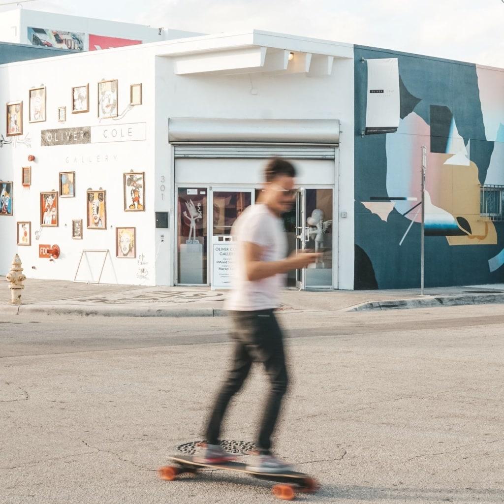 Skateboard-Fahrer in Miami