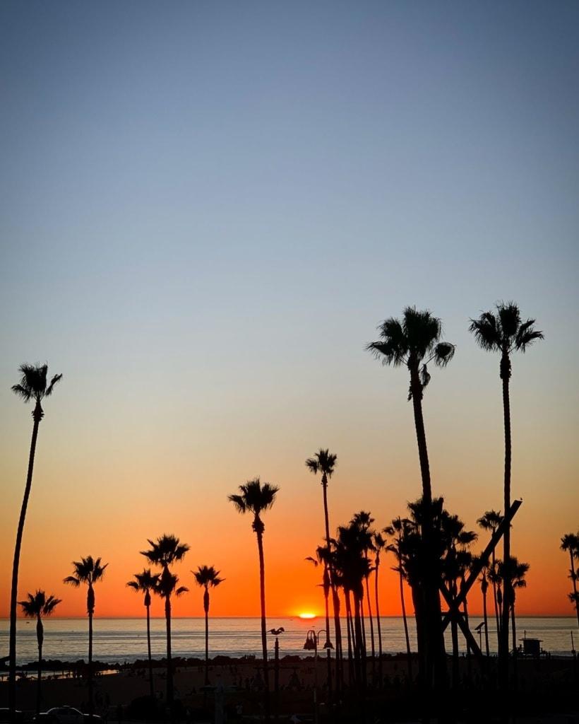 Sonnenuntergang am Strand in Los Angeles