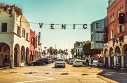 Straße in Venice Beach