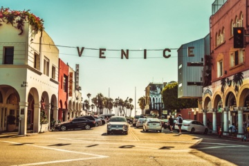 Straße in Venice Beach