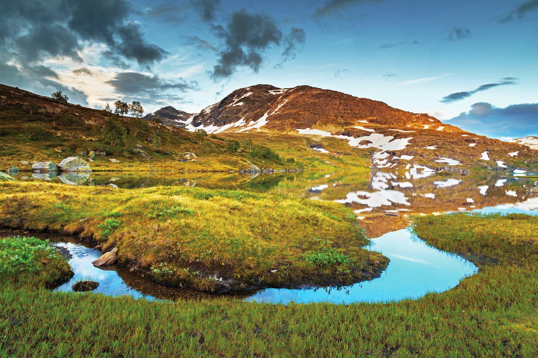 Hardangervidda-Plateau in Norwegen