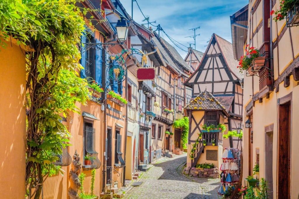 Weindorf Eguisheim im Elsass
