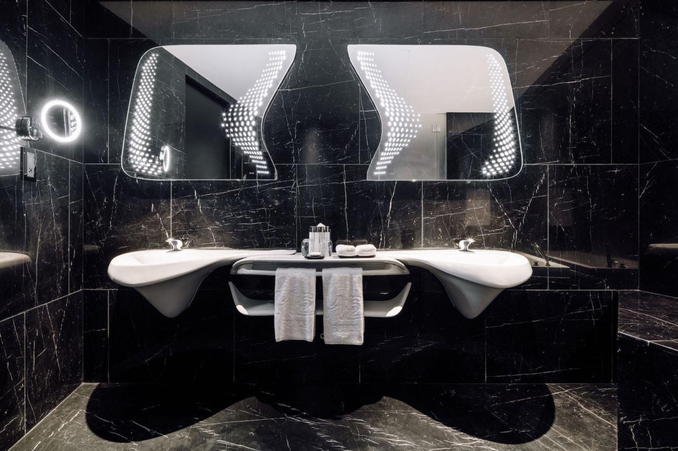 Futuristisches Badezimmer-Design