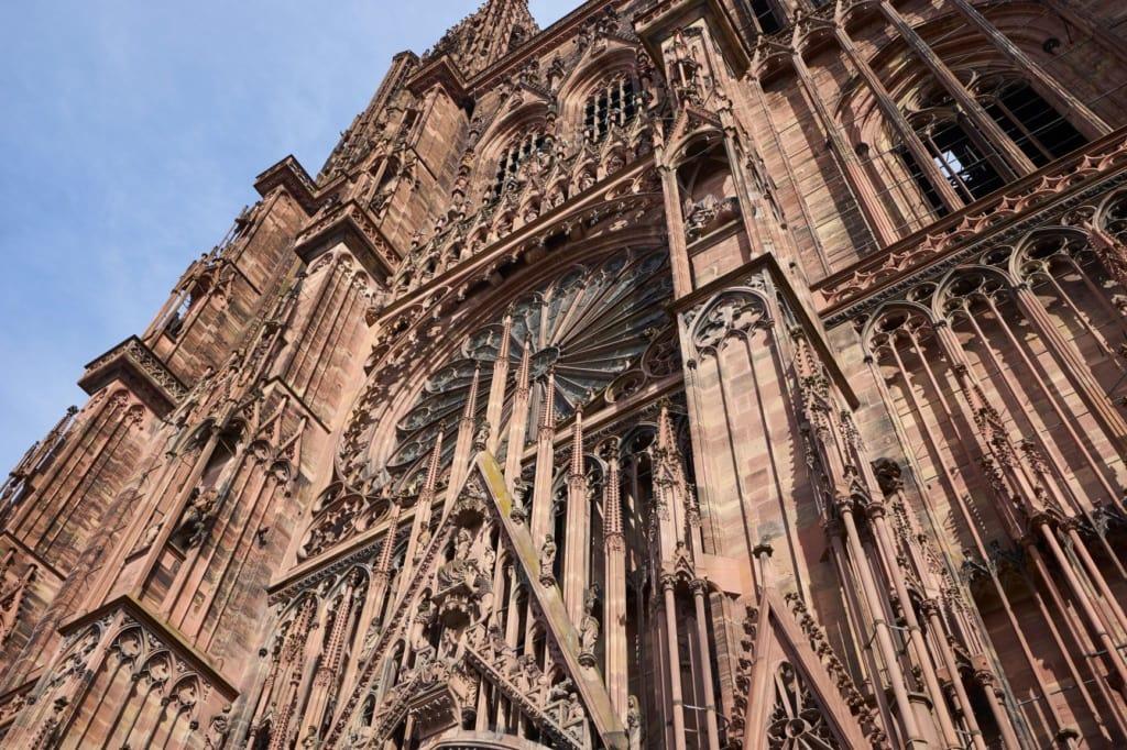 Fassade des Münsters in Straßburg