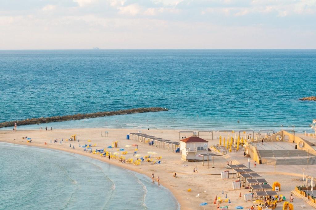 Netanja-Strand in Tel Aviv