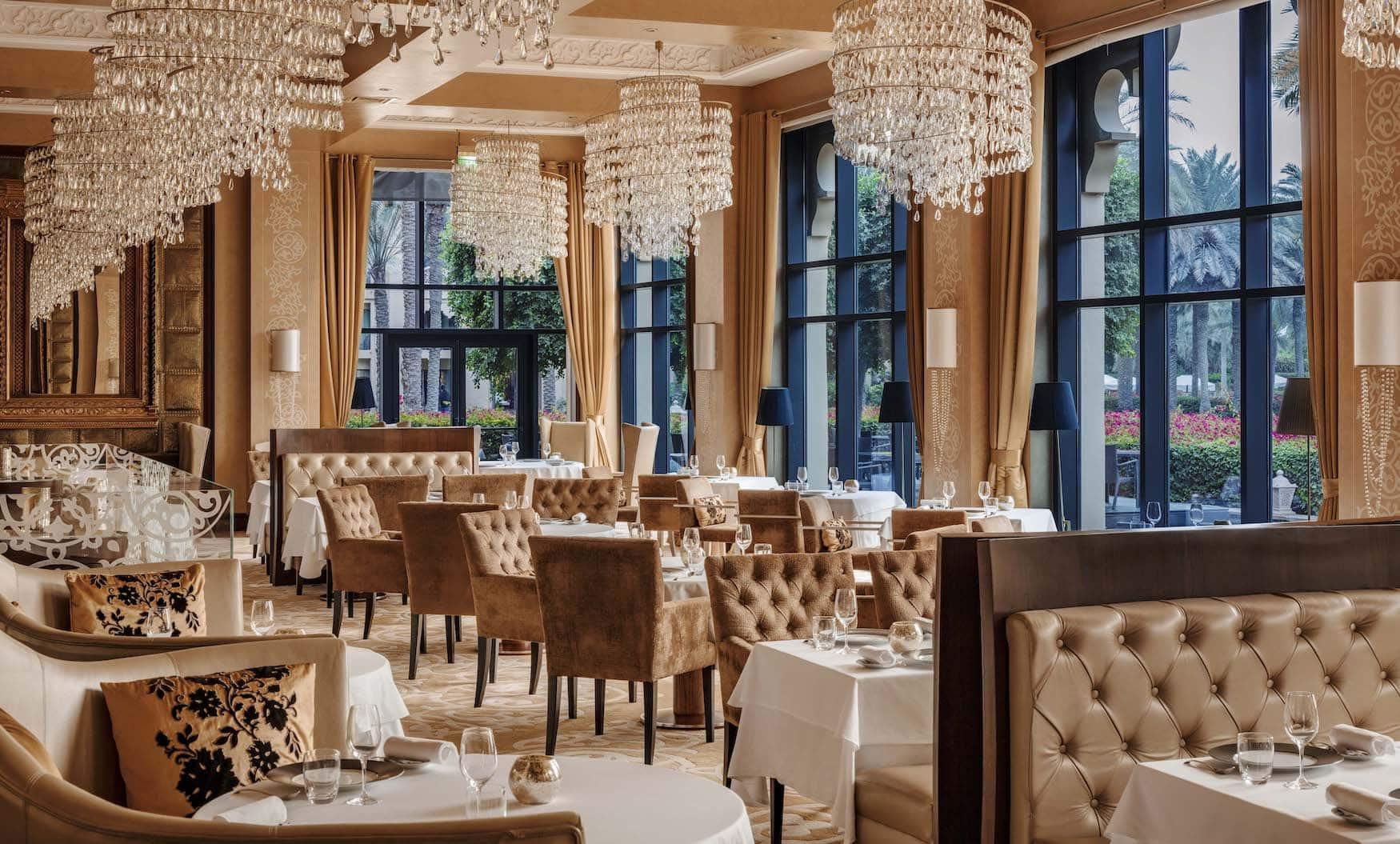Das Restaurant Celebrities von Innen