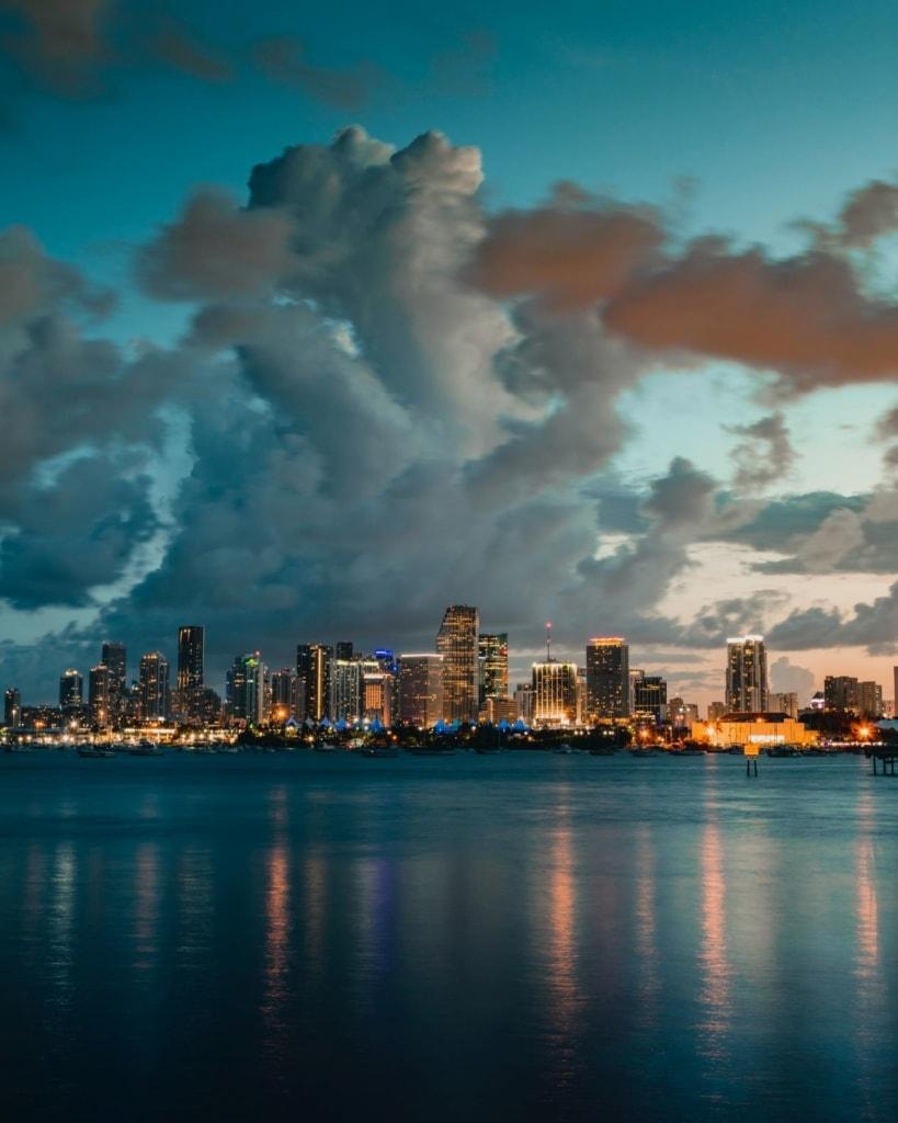 Blick auf Skyline von Miami