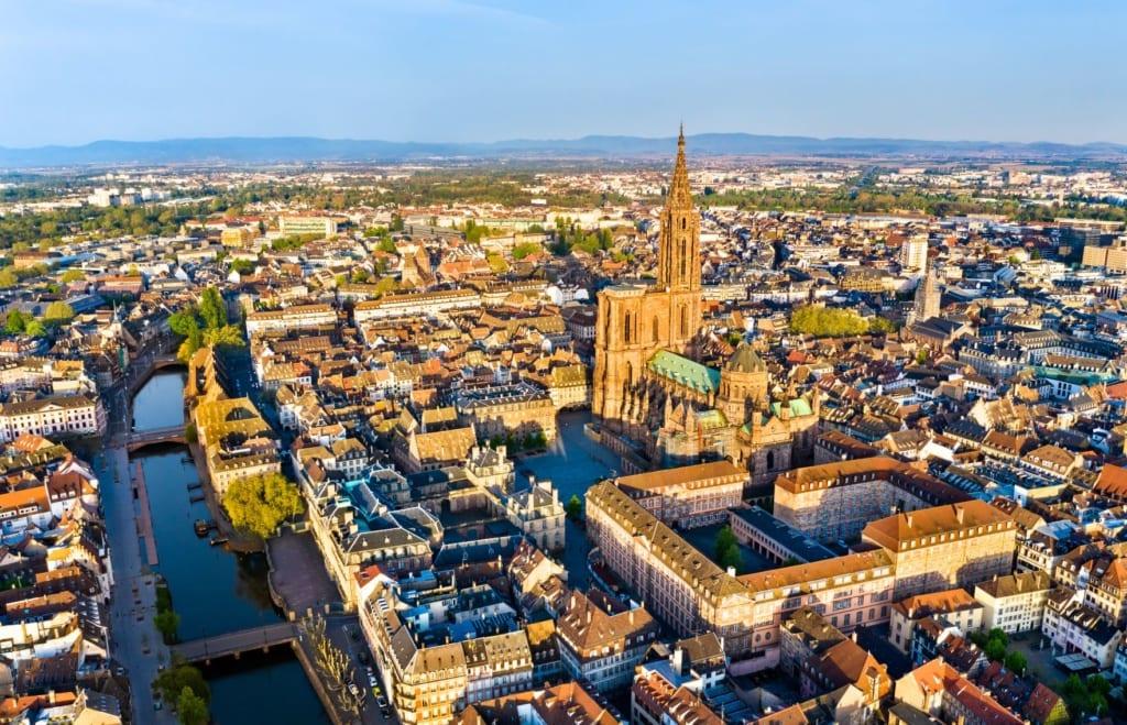 Panorama-Blick auf Straßburg