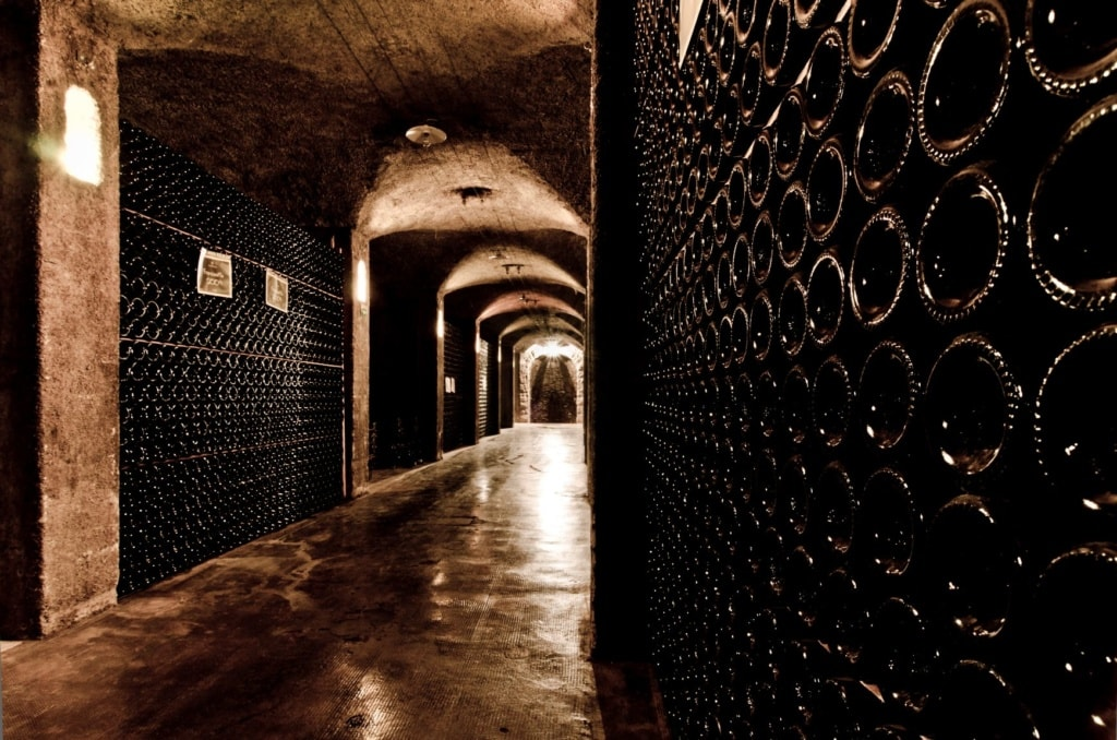 Weinkeller in der Franciacorta