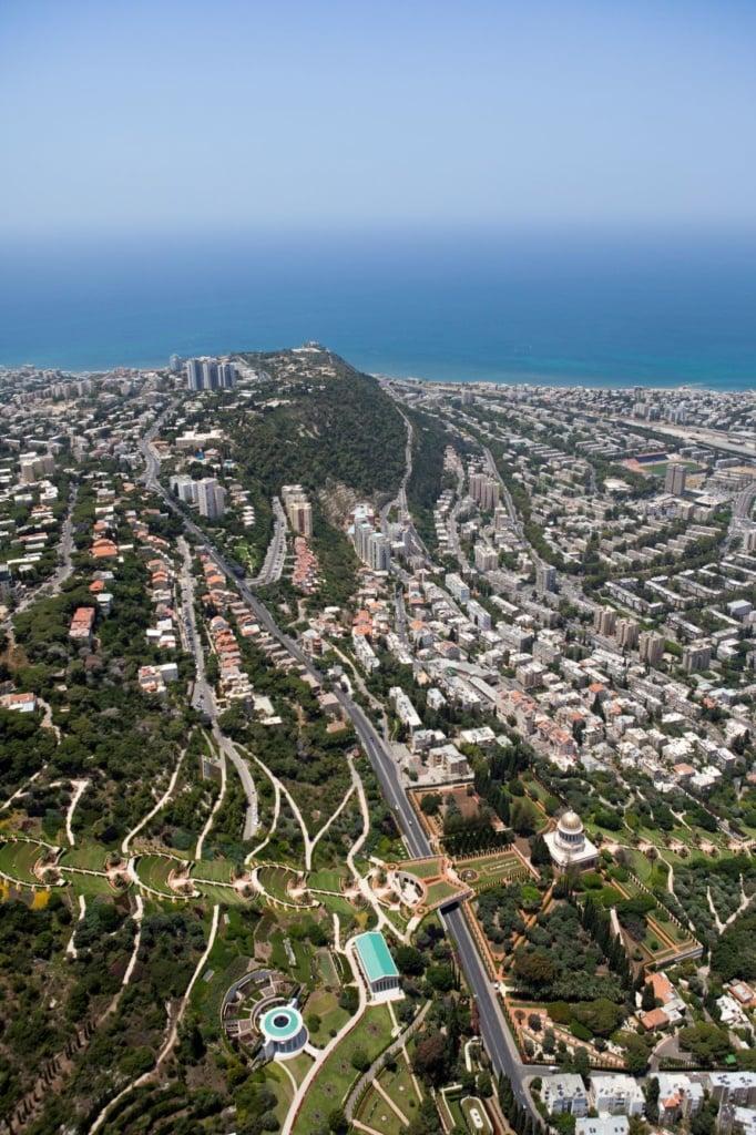 Stadtblick auf Haifa, Israel