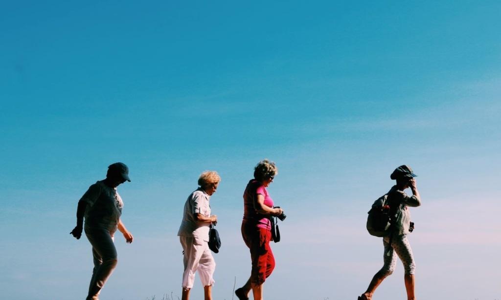 Touristen unterwegs