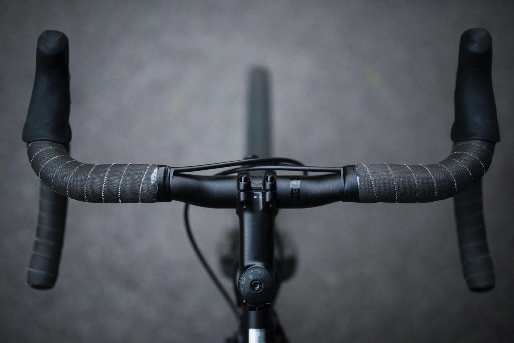 Fahrradlenker von oben
